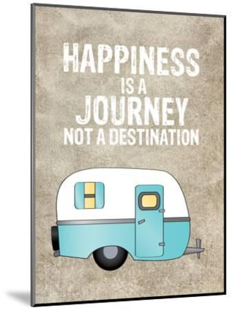 Camper Happiness Is Journey-Amy Brinkman-Mounted Art Print
