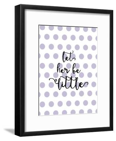 Let Her Be Little Polkadots Lavender-Amy Brinkman-Framed Art Print