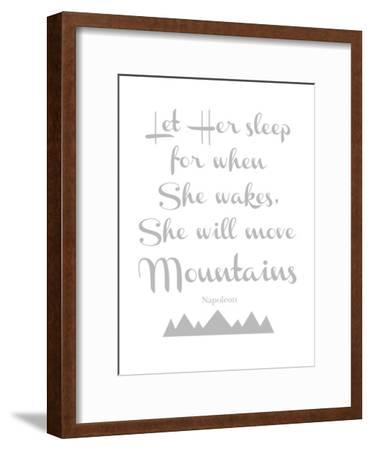 Let Her Sleep Mountains Gray-Amy Brinkman-Framed Art Print