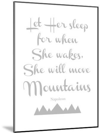 Let Her Sleep Mountains Gray-Amy Brinkman-Mounted Art Print
