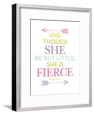 She Is Fierce Multi-Amy Brinkman-Framed Art Print