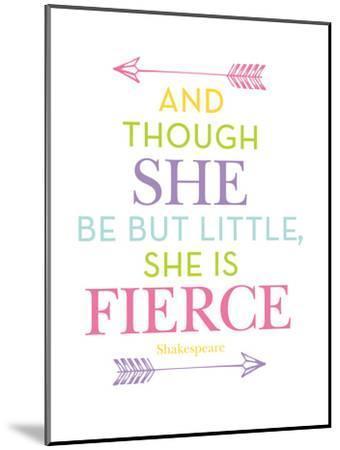 She Is Fierce Multi-Amy Brinkman-Mounted Art Print