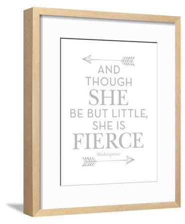 She Is Fierce Gray-Amy Brinkman-Framed Art Print