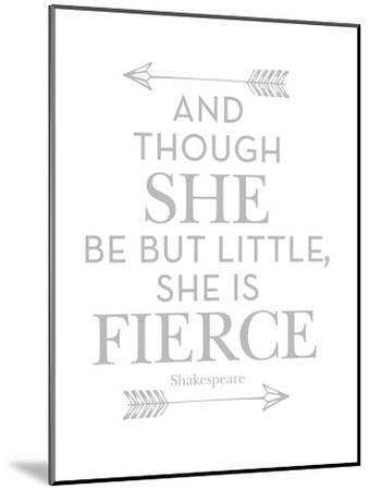 She Is Fierce Gray-Amy Brinkman-Mounted Art Print