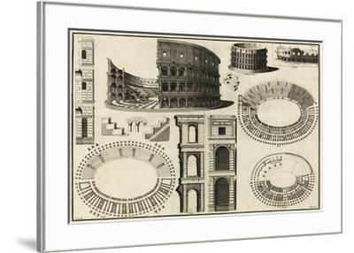 Diagram of the Colosseum-Unknown-Framed Giclee Print