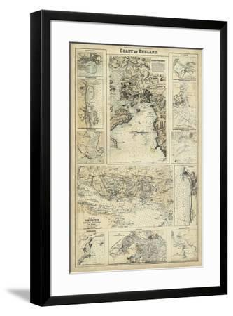 Map of the Coast of England I-Unknown-Framed Giclee Print