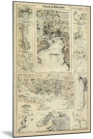 Map of the Coast of England I-Unknown-Mounted Giclee Print