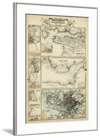 Map of the Coast of England II-Unknown-Framed Giclee Print