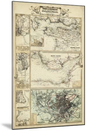 Map of the Coast of England II-Unknown-Mounted Giclee Print