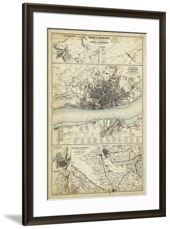 Map of the Coast of England IV-Unknown-Framed Giclee Print