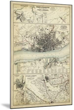 Map of the Coast of England IV-Unknown-Mounted Giclee Print