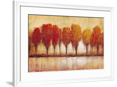 Autumn Water's Edge-Tim OToole-Framed Art Print