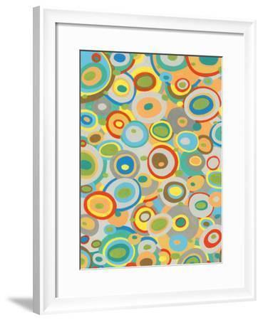 Overlapping Ovals I-Nikki Galapon-Framed Giclee Print
