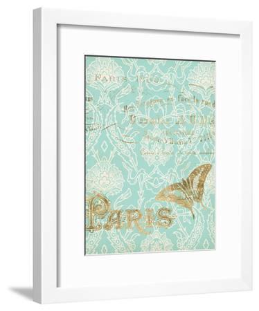 Paris in Gold III-Jennifer Goldberger-Framed Art Print