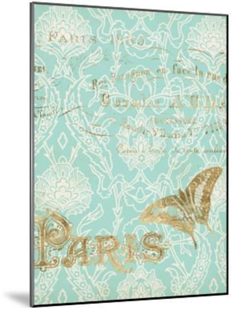 Paris in Gold III-Jennifer Goldberger-Mounted Art Print