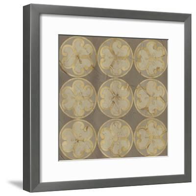 Golden Trellis IX-June Vess-Framed Giclee Print