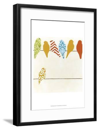 Patterned Perch II-June Vess-Framed Art Print