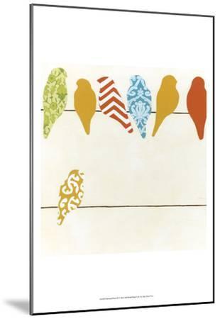 Patterned Perch II-June Vess-Mounted Art Print