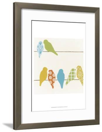 Patterned Perch IV-June Vess-Framed Art Print