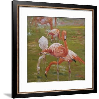Flamingo I-Chuck Larivey-Framed Giclee Print