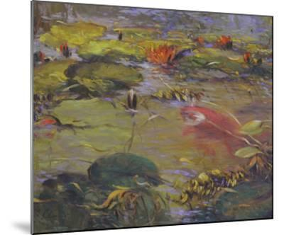 Koi & Lilies I-Chuck Larivey-Mounted Giclee Print