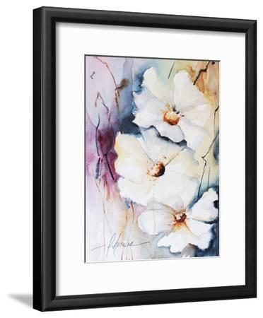 Blooms Aquas I-Leticia Herrera-Framed Art Print