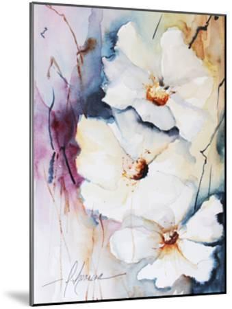 Blooms Aquas I-Leticia Herrera-Mounted Art Print