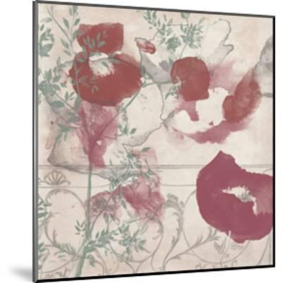 Floral Flutter II-Jennifer Goldberger-Mounted Art Print