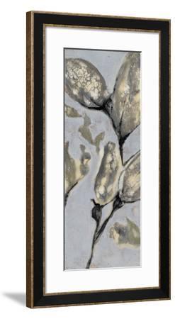 Flower Bud Triptych I-Jennifer Goldberger-Framed Giclee Print