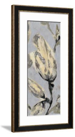 Flower Bud Triptych III-Jennifer Goldberger-Framed Giclee Print
