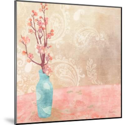 Vase of Cherry Blossoms II-Evelia Designs-Mounted Art Print