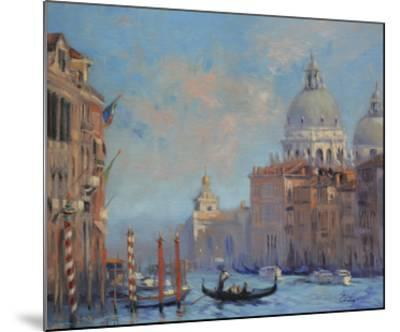 Venice Grand Canal-Chuck Larivey-Mounted Giclee Print
