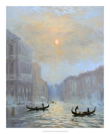 Venice Morning Mist-Chuck Larivey-Framed Giclee Print