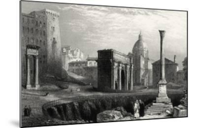 Antique View of Rome-Unknown-Mounted Giclee Print