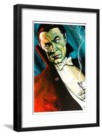 Bat Man-Mike Bell-Framed Art Print