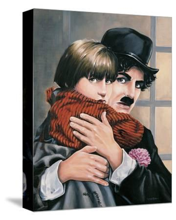 Charly Chaplin - the Kid-Renate Holzner-Stretched Canvas Print