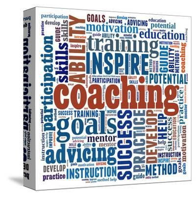Motivating Coaching Collage--Stretched Canvas Print