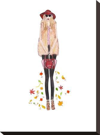 Boho Fall- Alison B Illustrations-Stretched Canvas Print