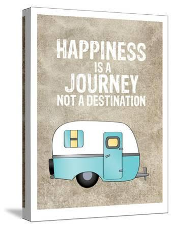 Camper Happiness Is Journey-Amy Brinkman-Stretched Canvas Print
