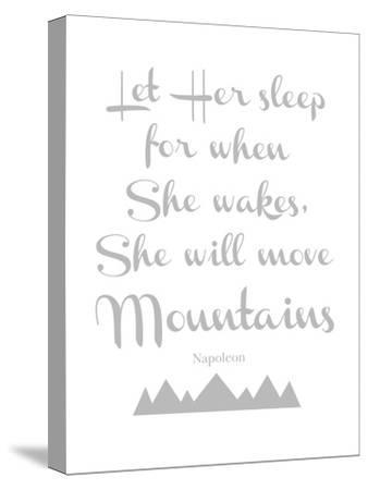 Let Her Sleep Mountains Gray-Amy Brinkman-Stretched Canvas Print