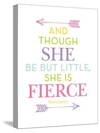 She Is Fierce Multi-Amy Brinkman-Stretched Canvas Print
