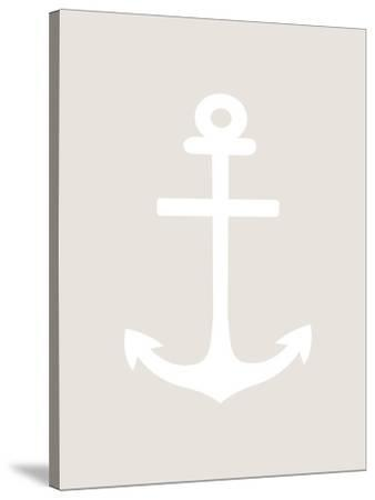 Beige Anchor-Jetty Printables-Stretched Canvas Print