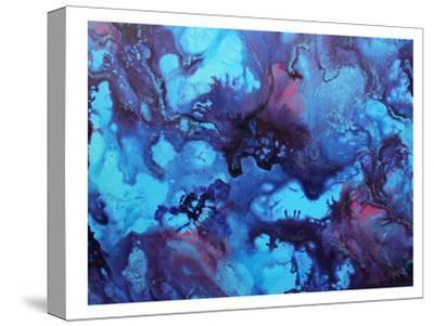 Blue Ink-Deb McNaughton-Stretched Canvas Print