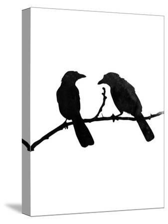 Faded Black Bird-Jetty Printables-Stretched Canvas Print