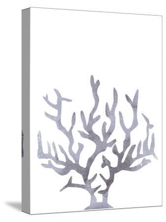 Gray Watercolor Coral-Jetty Printables-Stretched Canvas Print