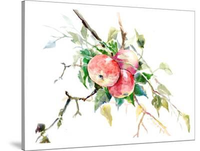 Red Apple Tree 3-Suren Nersisyan-Stretched Canvas Print