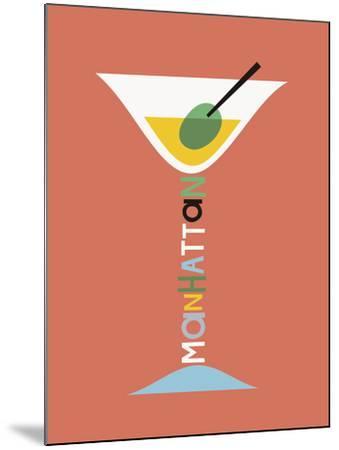 Stylish Cocktails - Manhattan-Sophie Ledesma-Mounted Giclee Print