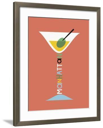 Stylish Cocktails - Manhattan-Sophie Ledesma-Framed Giclee Print