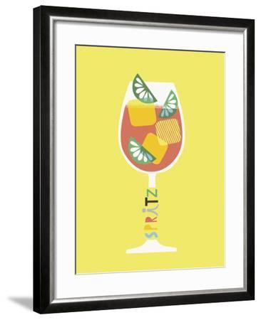 Stylish Cocktails - Spritz-Sophie Ledesma-Framed Giclee Print
