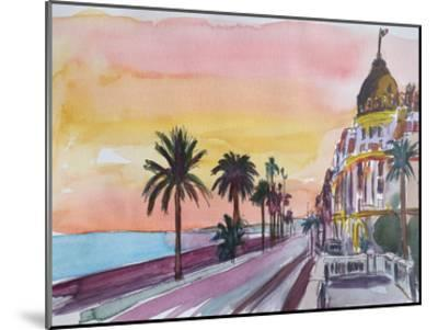 Nice France Seaview At Sunset-M Bleichner-Mounted Art Print